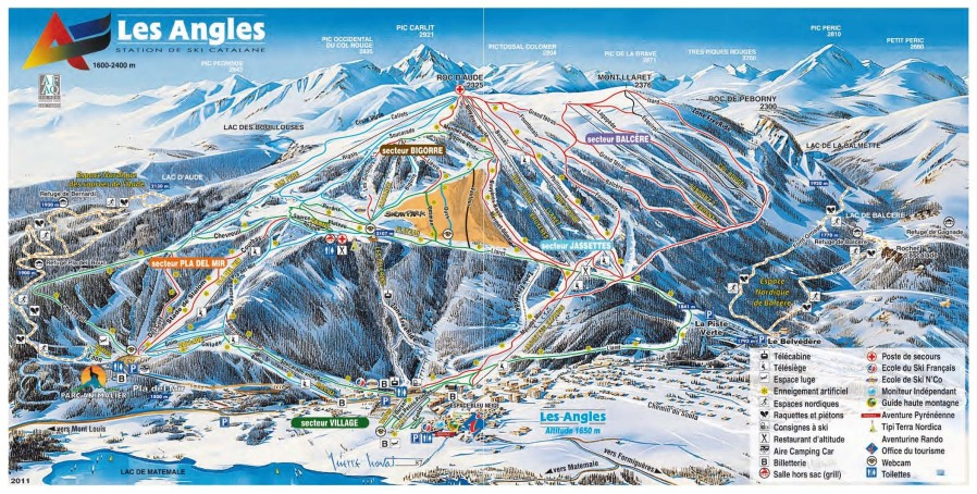 Ski map Our playground